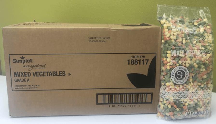 10071179188117 Simplot Mixed Vegetables