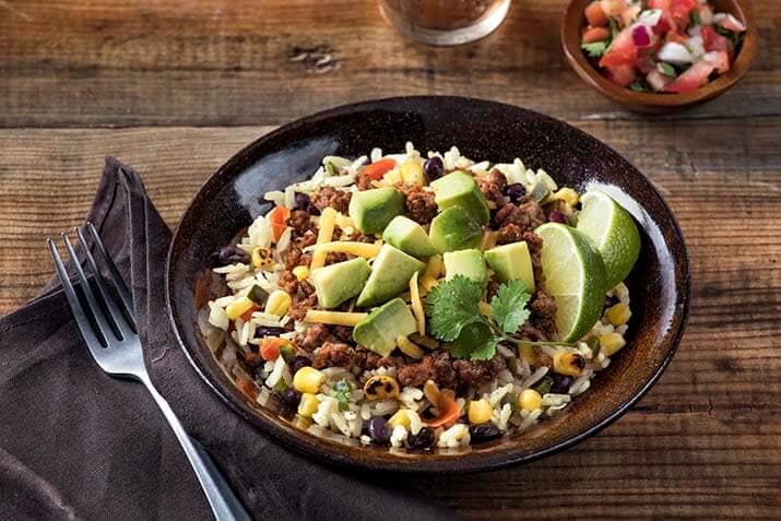 Cilantro LIme Rice Taco Bowl