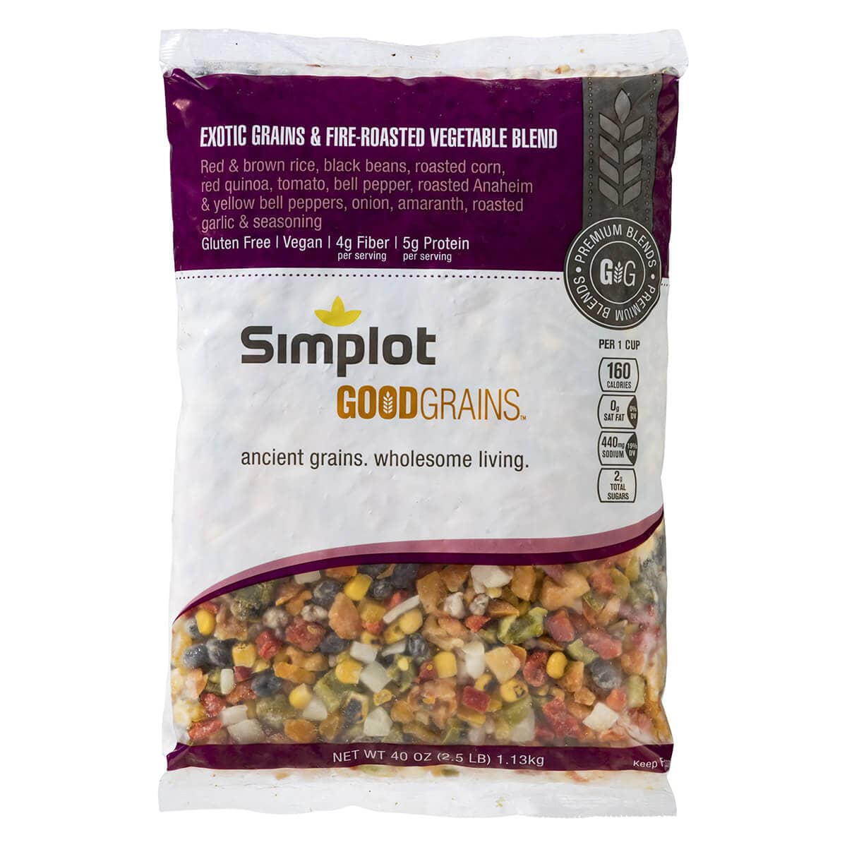 Simplot Good Grains™ Exotic Grains with Fire Roasted Vegetable Blend
