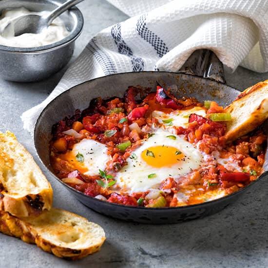 Baked Rajas Eggs