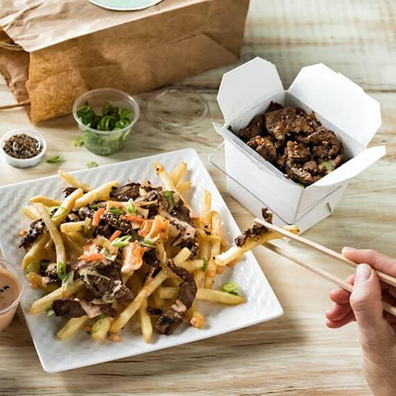 Delivery Korean Kim Chi Fries Recipe