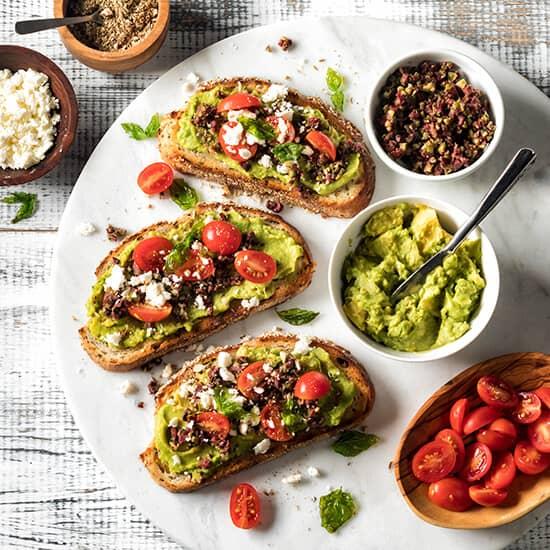 Mediterranean avocado toast