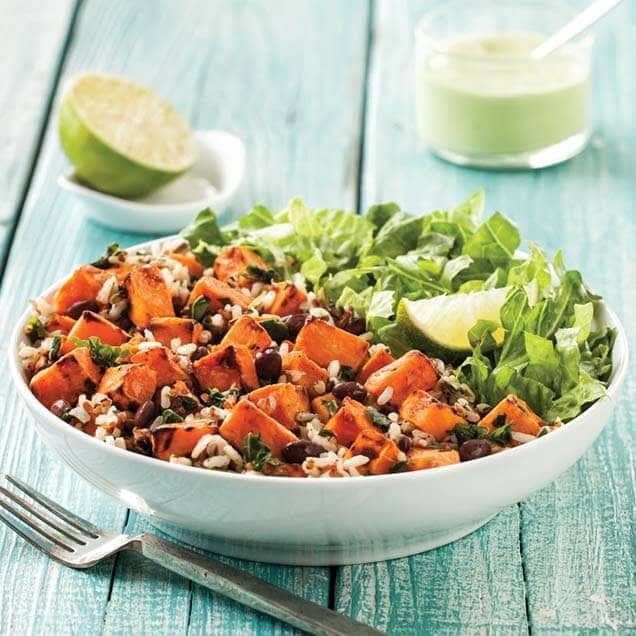 Sweet Potato Black Bean and Quinoa Salad