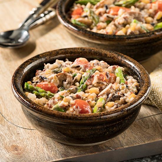 Hearty Grains and Wild Mushroom Vegetable Ragout