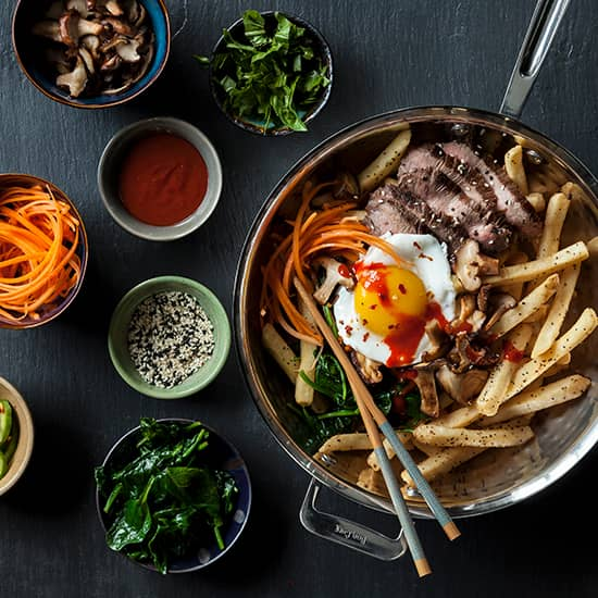 Korean Bibimbap Fries Featuring Simplot Kitchen Craft Recipe Simplot Foods