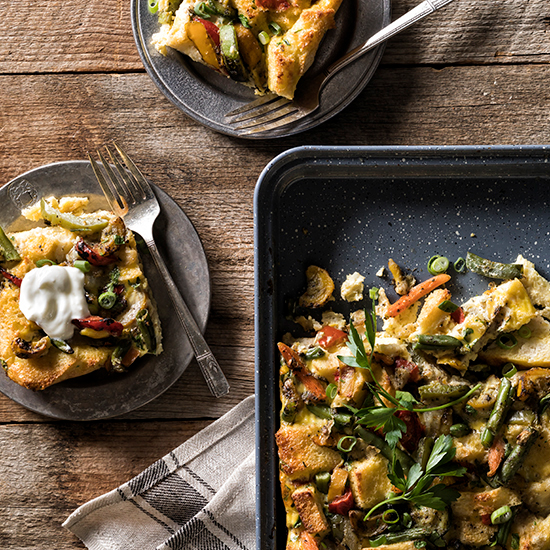 roasted veggie strata